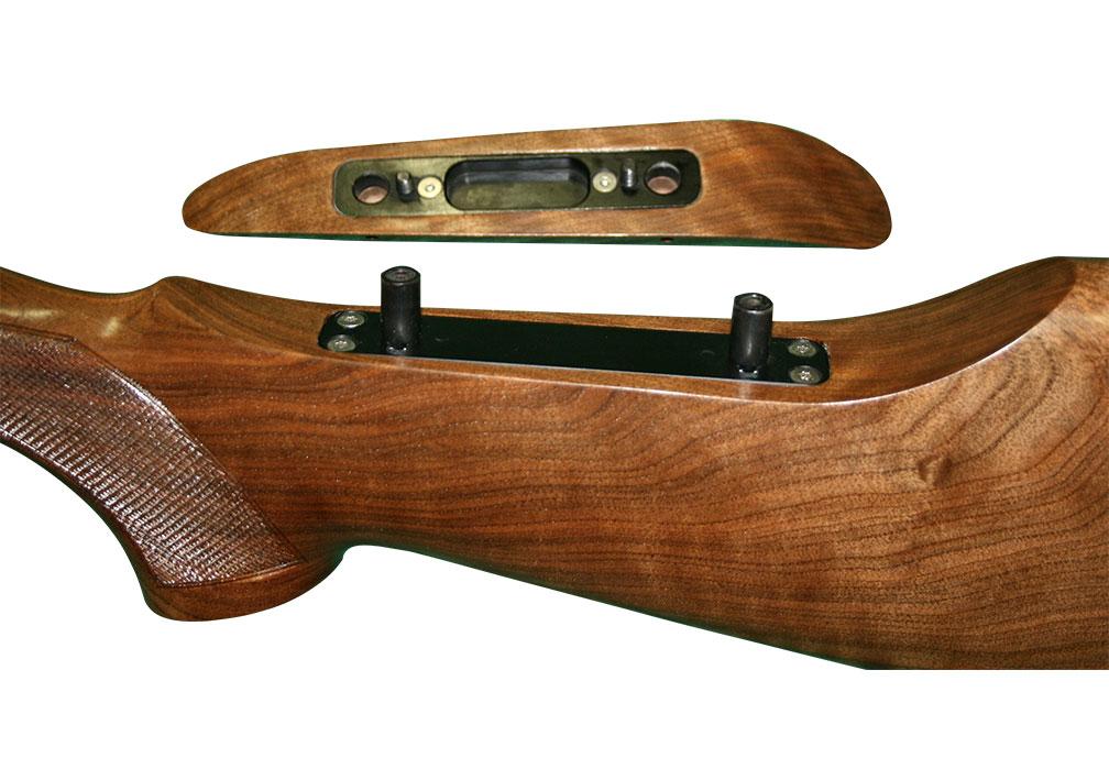 Adjustable comb rifle stock